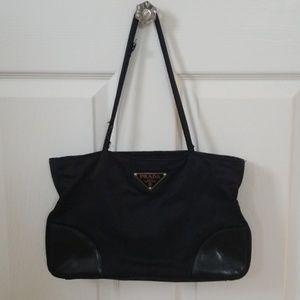 Authentic Used Black Prada Hand Bag Purse